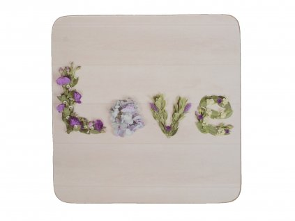 Creative Tops Floral Love Korkové podložky pod skleničky 10,5 x 10,5 cm 4 ks