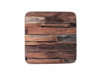Creative Tops Korkové podložky pod skleničky Wood Cabin 10,5x10,5 cm 6 ks