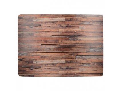 Creative Tops Korkové prostírání Wood Cabin velké 40x20 cm 4 ks