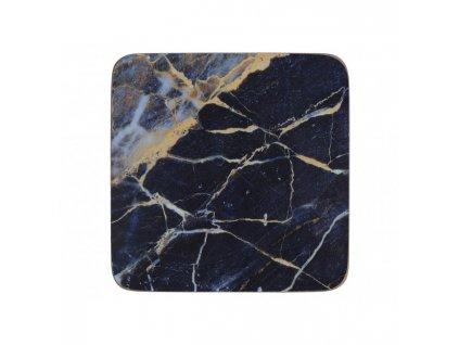 Creative Tops Korkové podložky pod skleničky Navy Marble  10,5x10,5 6 ks