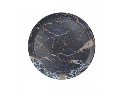 Creative Tops Melaminový tác Navy Marble průměr 36 cm