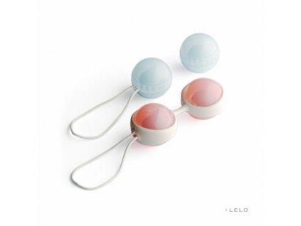 Lelo Luna Venušiny kuličky růžová/modrá 8,9x3,5x1,6 cm