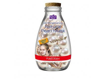 Purederm Pleťová maska s výtažkem z perel a vitamínem E,15ml