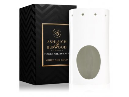 ashleigh burwood london white and gold keramicka aromalampa