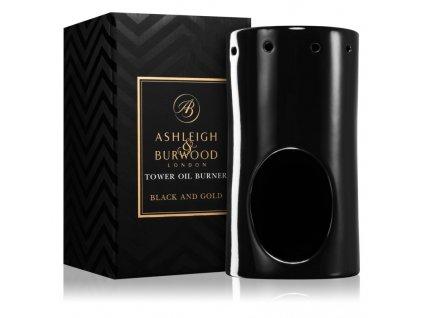 ashleigh burwood london black and gold keramicka aromalampa