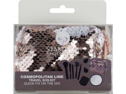 Standelli Professional Cosmopilitan Luxusní SOS cestovní set kosmetických pomůcek 9 ks