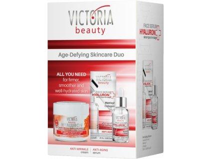 Victoria Beauty Hyaluron Denní a noční krém s kaviárem+pleťové sérum s matrixylem, 2 ks