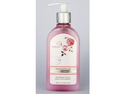 Victoria Beauty Rose and yoghurt Detoxikační čisticí pleťový gel 200 ml