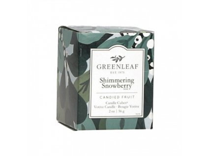 gl candlecube shimmeringsnowberry
