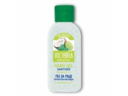 Victoria Beauty Dezinfeční gel na ruce s vůní limetek a kokosu, 50 ml