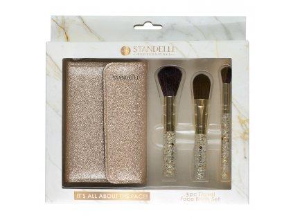 Standelli professional Cestovní set kosmetických pomůcek 3 ks + taštička ZDARMA
