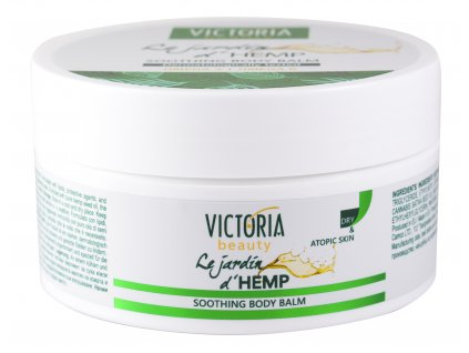 Victoria beauty Le jardin d´HEMP Zvláčňující tělový krém s konopným olejem 200 mL