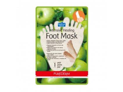 Purederm Intenzivní hojivá maska na nohy s výtažky z jablka, 1 pár