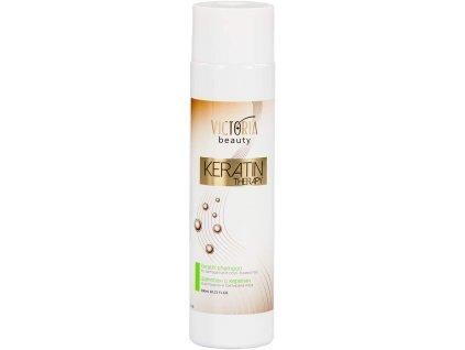 Victoria Beauty KERATIN Therapy Vlasový šampón pro zdravé a vitální vlasy, 300 ml