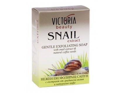 Victoria Beauty Snail Extract Peelingové mýdlo se šnečím extraktem, 75g