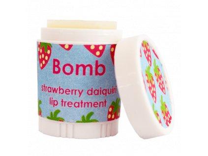 Bomb cosmetics Máslový balzám na rty Jahodový ráj, 9 ml