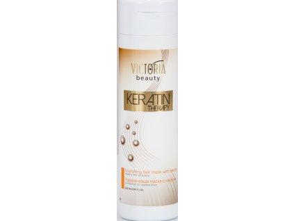 Victoria Beauty Keratin Therapy Výživná vlasová maska, 250 ml