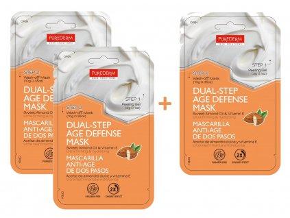 Purederm Dvoufázová pleťová maska s avokádovým olejem a vitamínem E, AKCE 2+1 ZDARMA, 3ks
