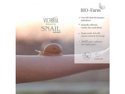 Victoria Beauty Snail Extract Regenerační krém na nohy se šnečím extraktem, 100 ml