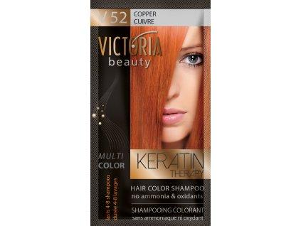 Victoria Beauty Keratin Therapy Tónovací šampón na vlasy V 52, Copper, 4-8 umytí