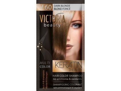 Victoria Beauty Keratin Therapy Tónovací šampon na vlasy V 60, Dark blonde, 4-8 umytí