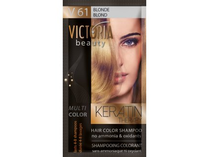 Victoria Beauty Keratin Therapy Tónovací šampon na vlasy V 61, Blonde, 4-8 umytí