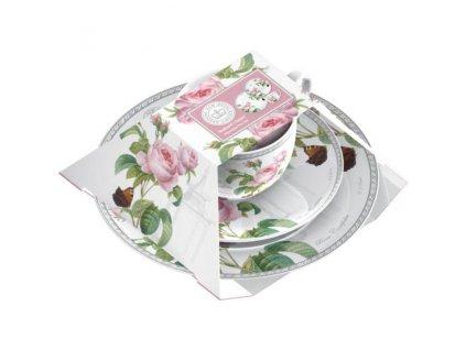 Creative Tops Redouté Classic Porcelánový šálek s dezertním talířem, 3 ks