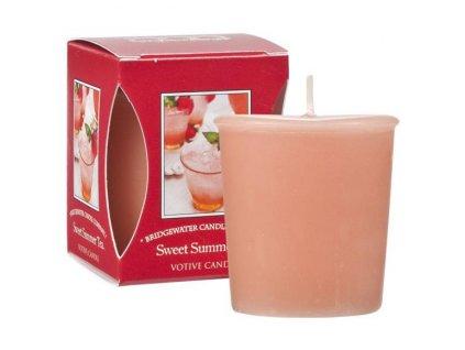 Bridgewater Candle Company  Votivní Svíčka Sweet Summer Tea, 15 hodin