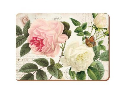 Creative Tops Korkové prostírání Garden Rose, 29x21 cm, 6 ks