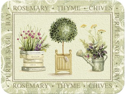 Creative Tops Skleněné krájecí prkénko Topiary