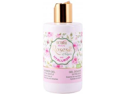 Victoria Beauty Roses and Hyaluron Sprchový gel s růžovým olejem a kyselinou hyaluronovou, 250 ml
