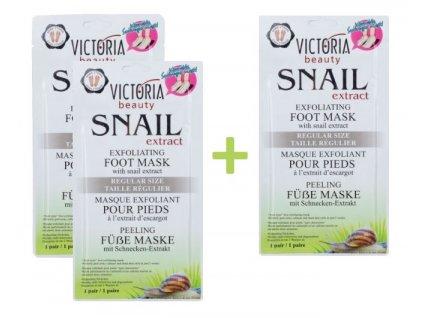 Victoria Beauty Pedikúra Samoslupovací zábal na nohy se šnečím extraktem, AKCE 2+1 ZDARMA, 3 ks