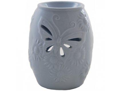 Bridgewater Candle Company Aromalampa Butterfly ( motýl ), šedo modrá