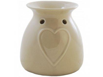 Bridgewater Candle Company Aromalampa Heart (srdce), krémová