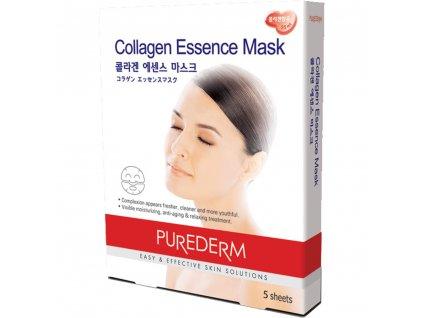 Purederm Textilní Kolagenová pleťová maska, 5 ks