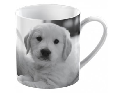 puppy small can mug