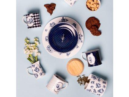 Creative Tops Porcelánový hrnek Floral Vintage Indigo 400 ml