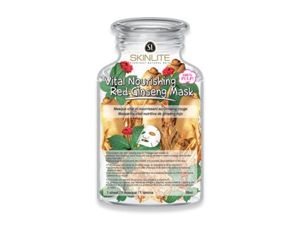 Skinlite Výživná ženšenová pleťová maska Vitalita, 1 ks