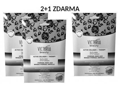 Victoria Beauty Aktivní kolagenová hydrogelová 3D maska AKCE 2+1 ZDARMA