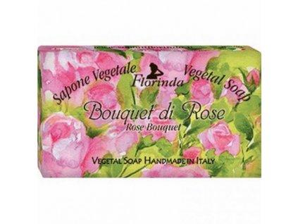 La Dispensa Italské mýdlo Bouquet Di Rose 100 g