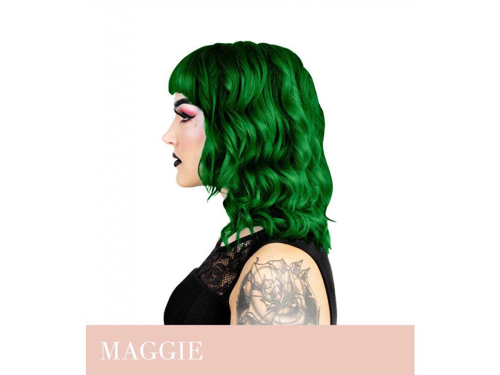 Herman's Professional  - přímá pigmentová barva Maggie Dark Green