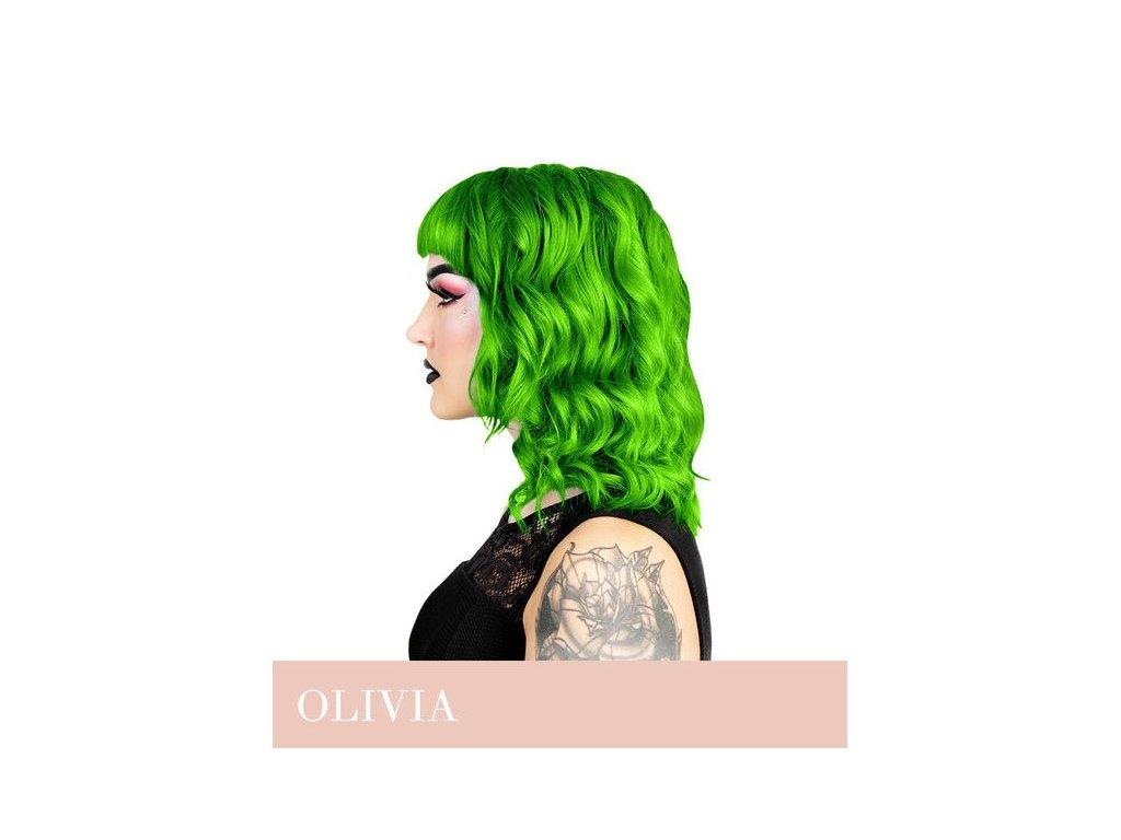 Herman's Professional  - přímá pigmentová barva UV Olivia Green
