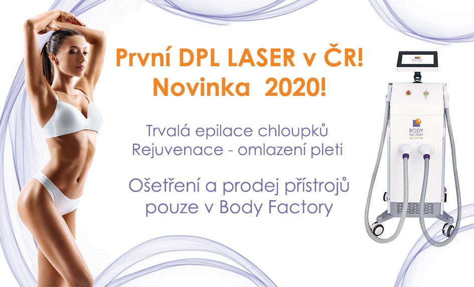 DPL laser na trvalé odstranění chloupků