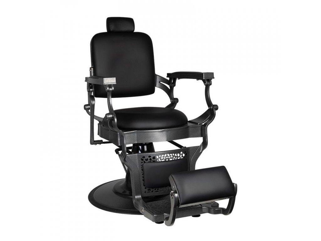 Barber židle kladívkově černá