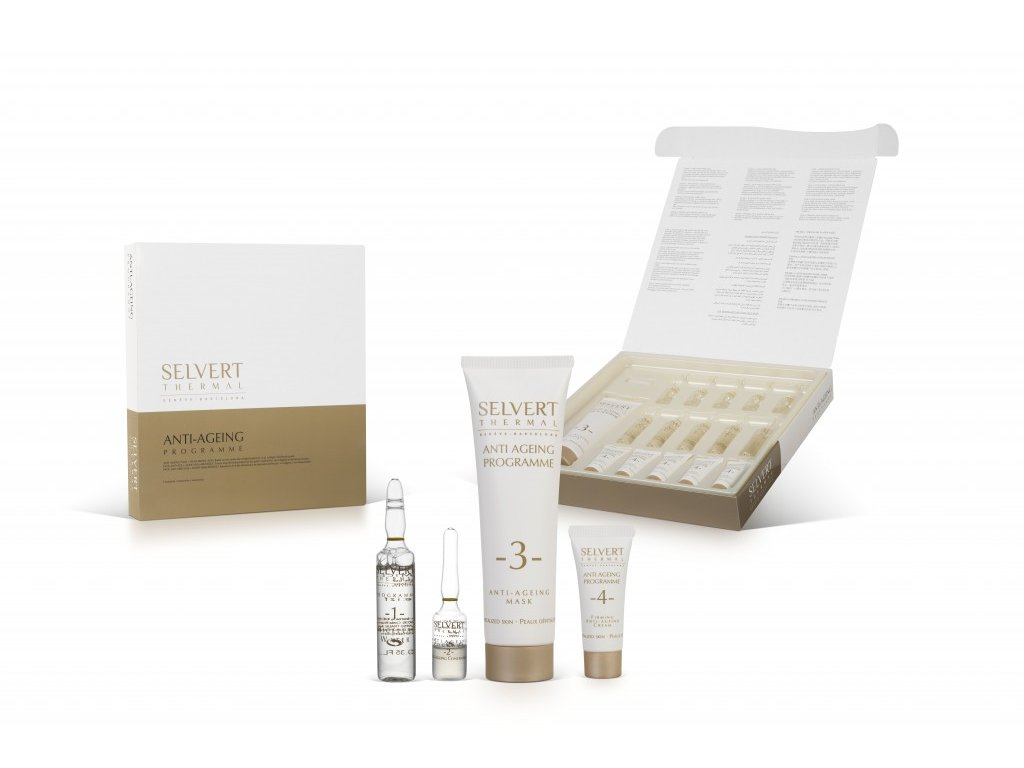 Saloní set na ošetření - Anti - Ageing Programm + Hyaluronic Acid Pack