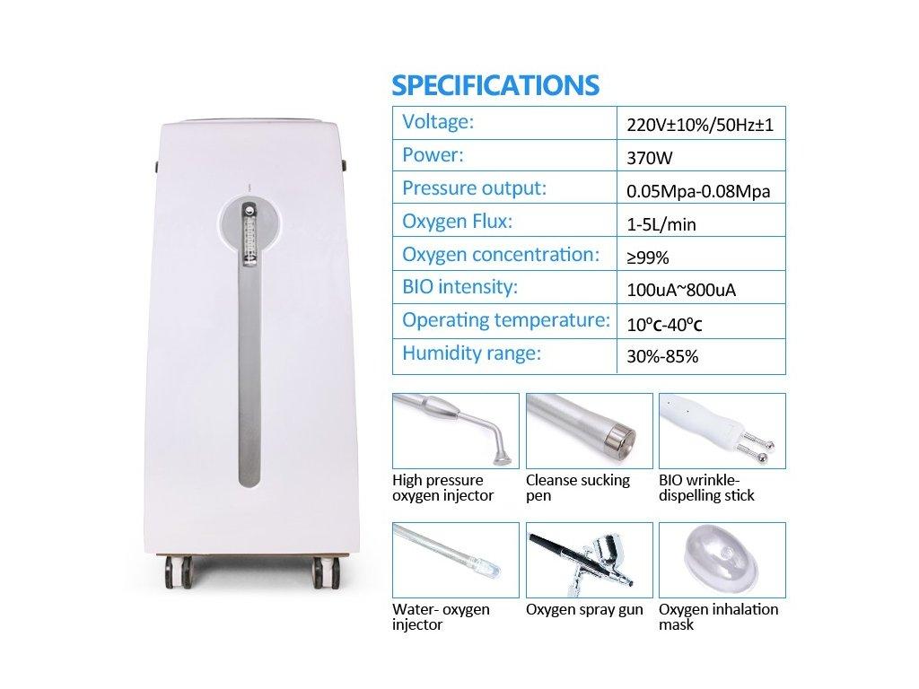 Kyslíkový generátor a aplikátory