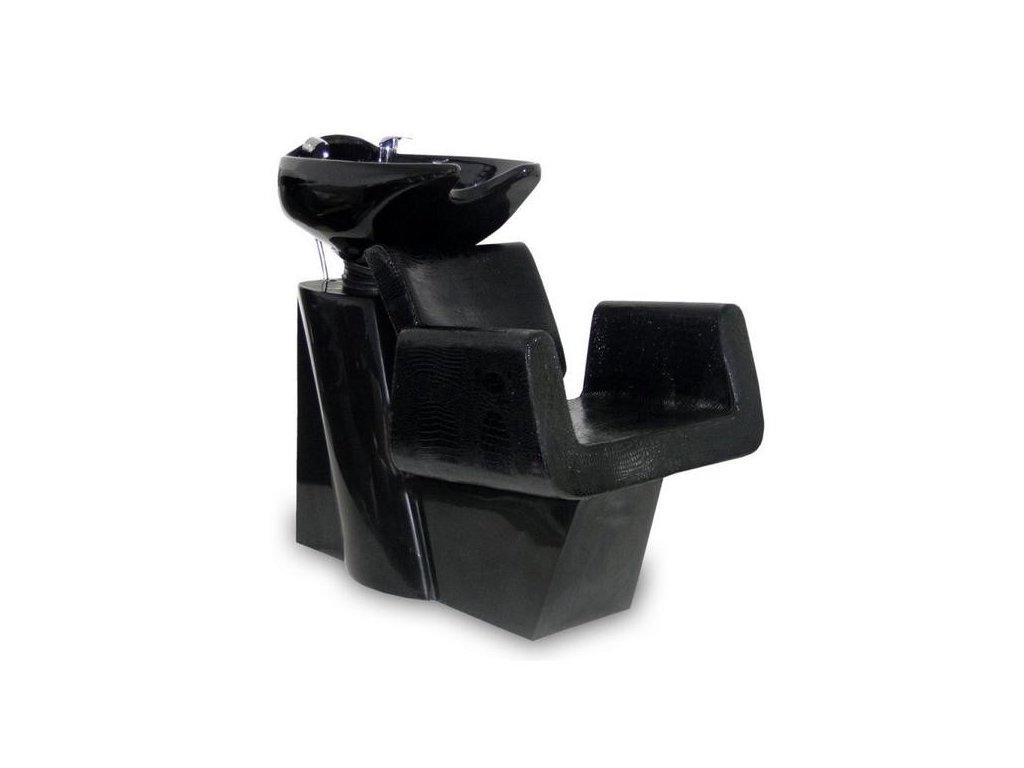 Mycí box Bell- černý, imitace krokodýlí kůže
