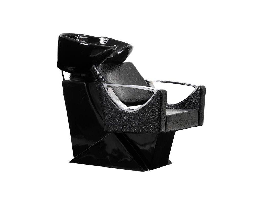 Mycí box Monza - černý, imitace krokodýlí kůže