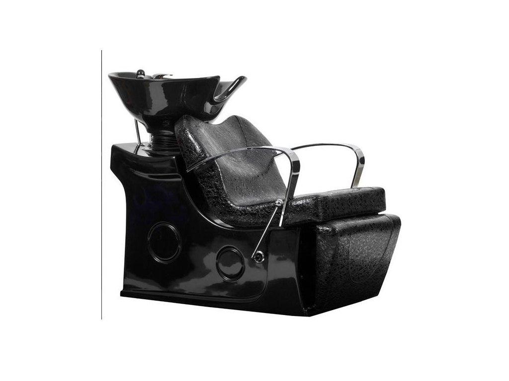 Mycí box Tivoli - černý, imitace krokodýlí kůže