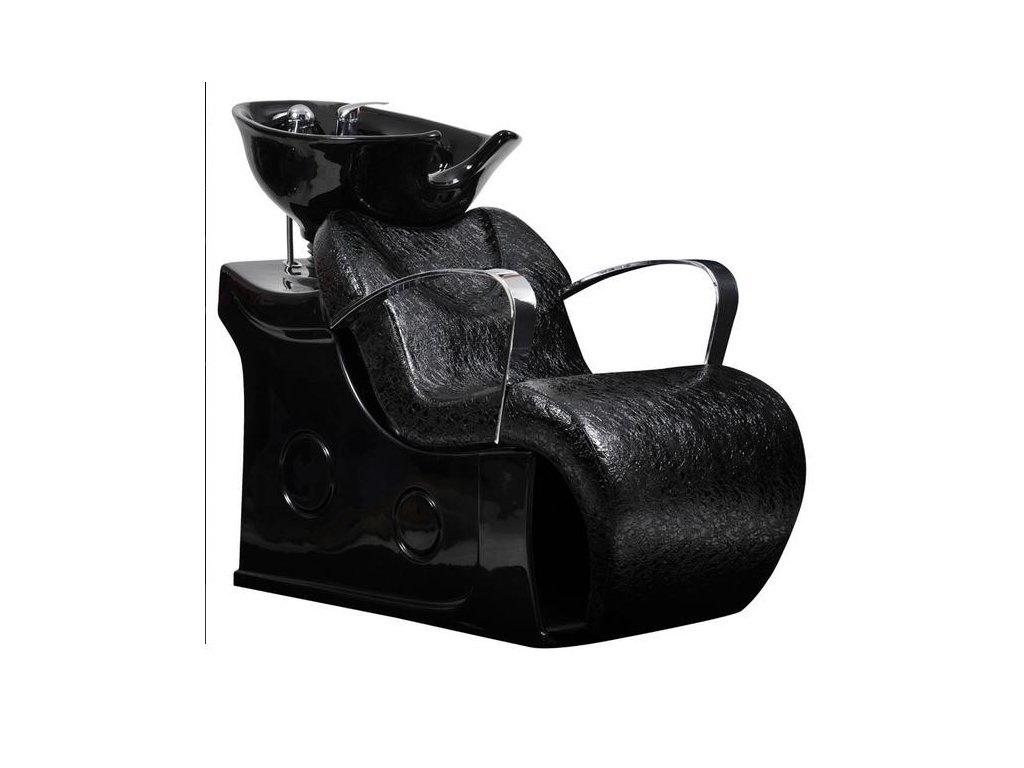 Mycí box Latina - černý, imitace krokodýlí